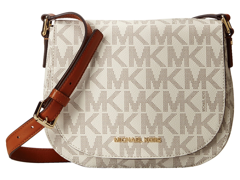 MICHAEL Michael Kors - Bedford Medium Flap Messenger (Vanilla) Messenger Bags
