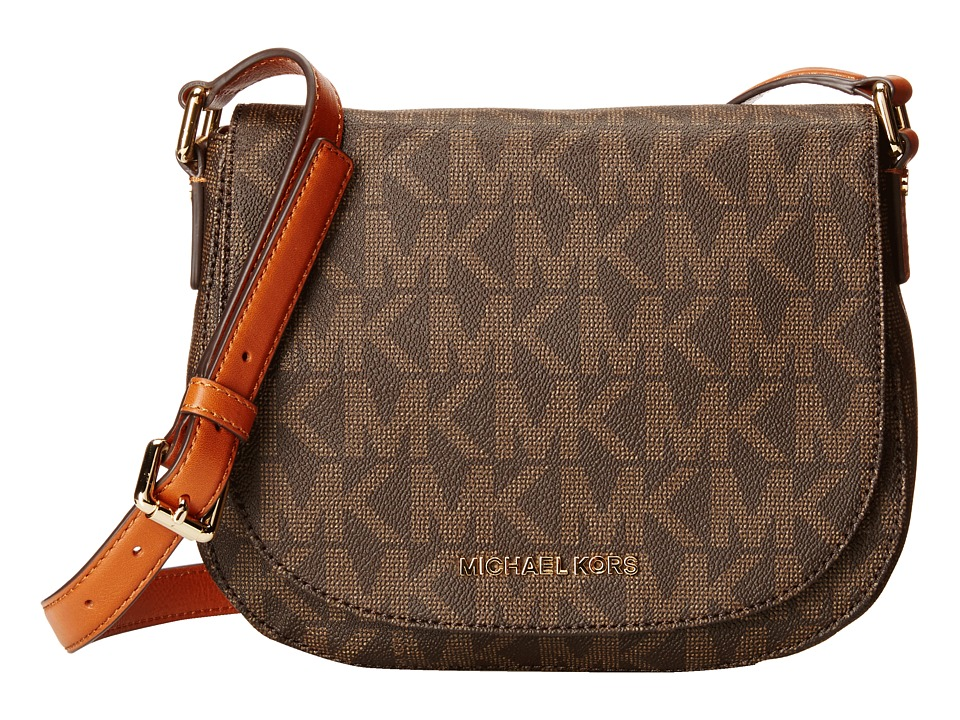 MICHAEL Michael Kors - Bedford Medium Flap Messenger (Brown) Messenger Bags