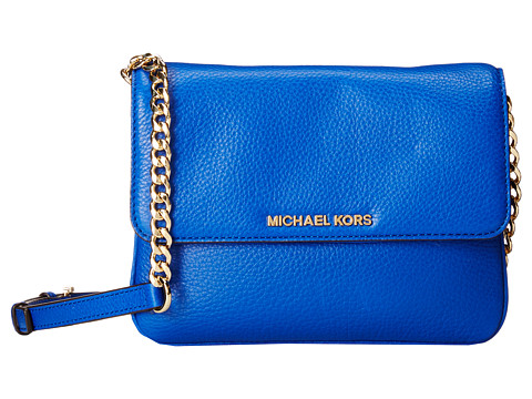 MICHAEL Michael Kors - Bedford Double Gusset Crossbody (Electric Blue) Cross Body Handbags
