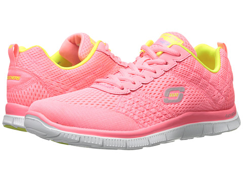 SKECHERS - Flex Appeal - Obvious Choice (Pink Yellow) Women