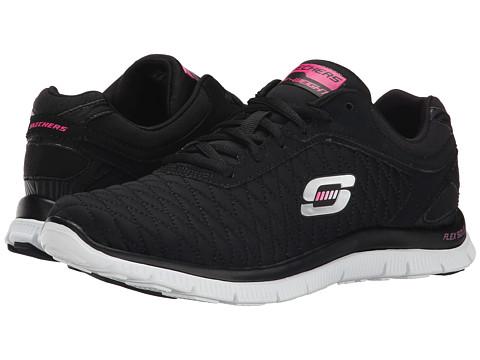 SKECHERS - Flex Appeal - Eye Catcher (Black White) Women's Shoes