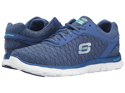 SKECHERS - Flex Appeal - Eye Catcher (Navy) Women's Shoes