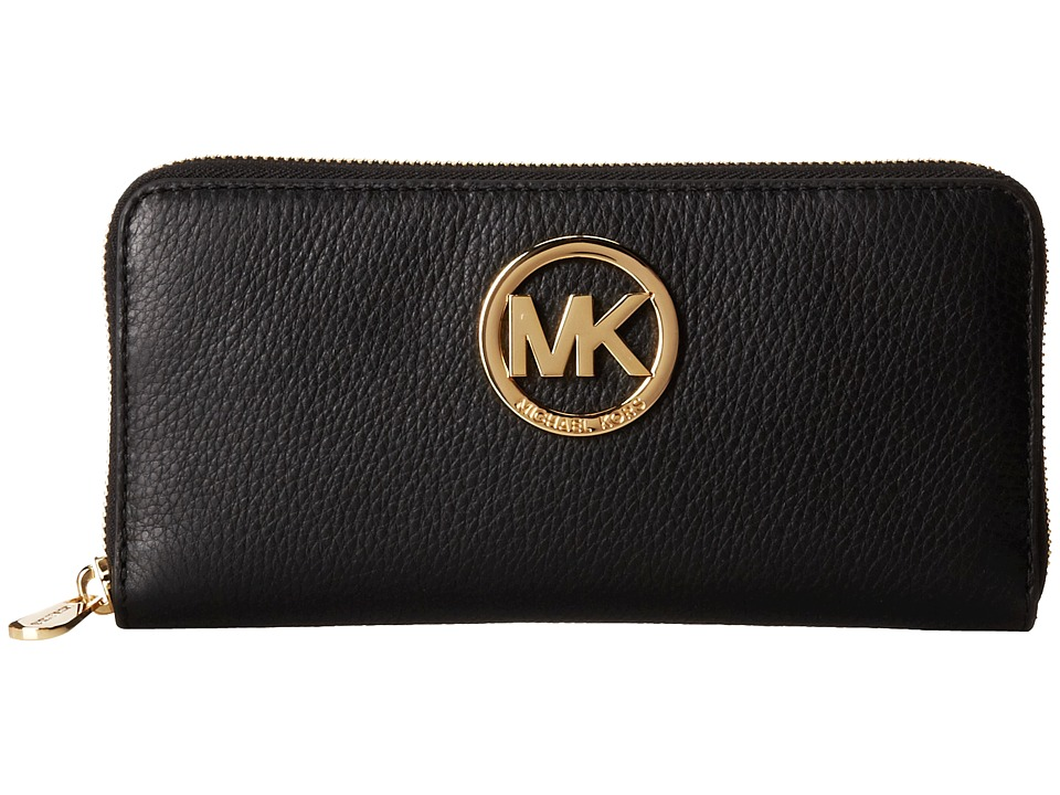 MICHAEL Michael Kors - Fulton Za Continental (Black) Continental Wallet