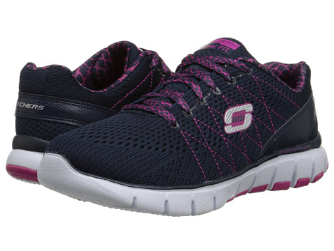 SKECHERS - Skech-Flex (Navy Purple) Women's Shoes
