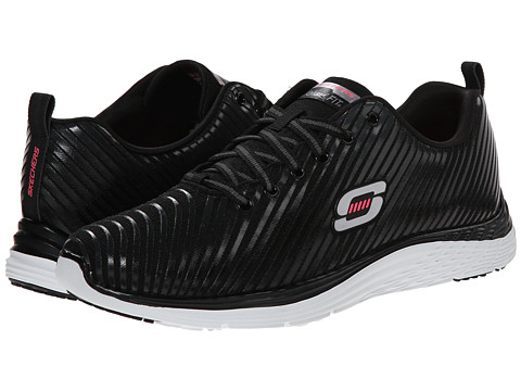 SKECHERS - Valeris - Perfect Storm (Black White) Women's Shoes