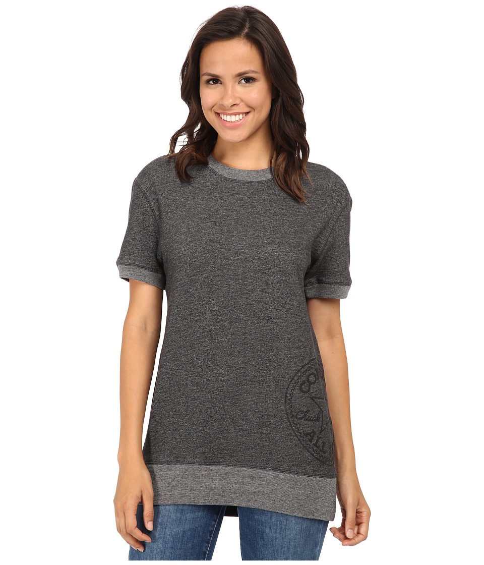 Converse - Core Plus Short Sleeve Crew Sweatshirt (Black) Women's Sweatshirt