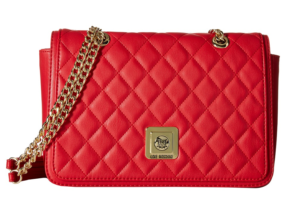 LOVE Moschino - I Love Superquilted Flap Bag (Red) Bags