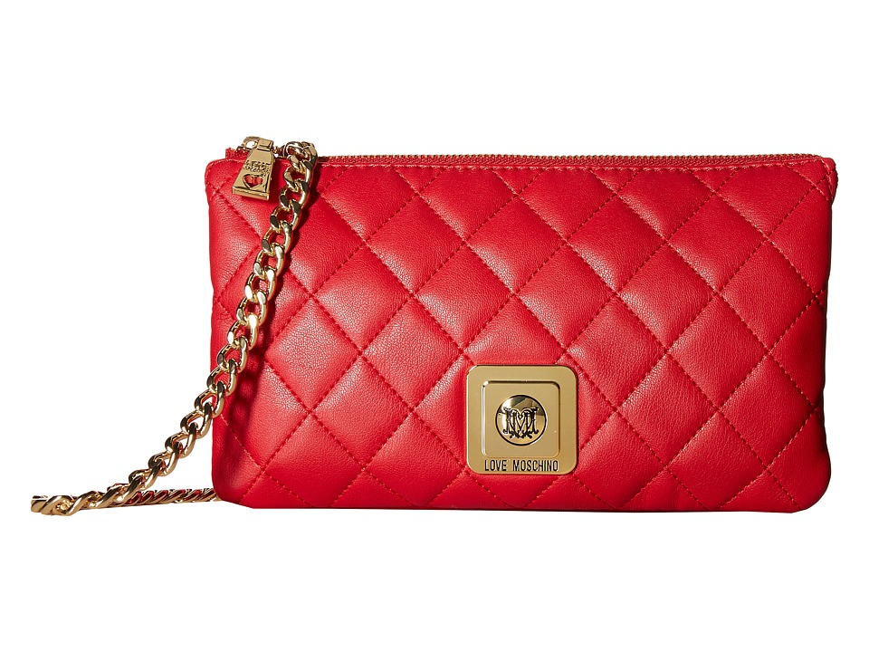 LOVE Moschino - I Love Superquilted Evening Crossbody Bag (Red) Cross Body Handbags