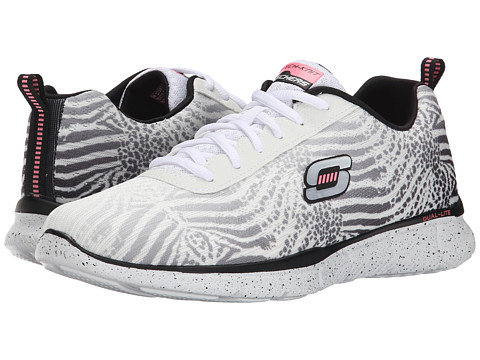 SKECHERS - Equalizer - Surf Safari (White/Black) Women's Shoes