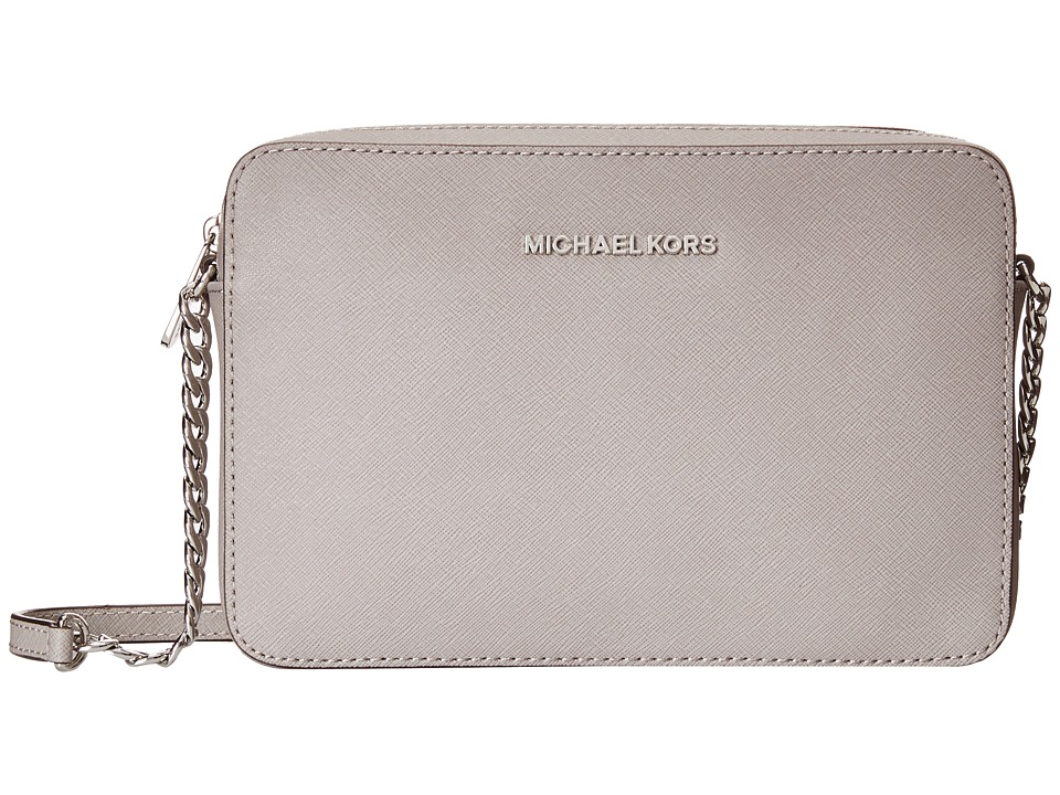 MICHAEL Michael Kors - Jet Set Travel LG Ew Crossbody (Pearl Grey) Cross Body Handbags
