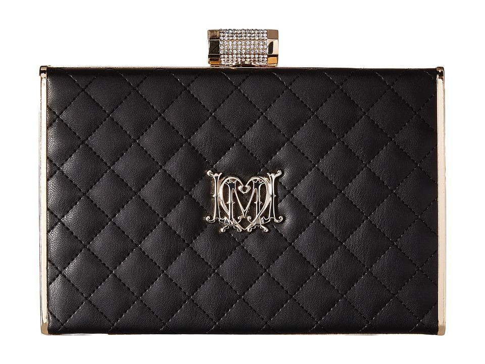 LOVE Moschino - I Love Superquilted Evening Clutch (Black) Clutch Handbags