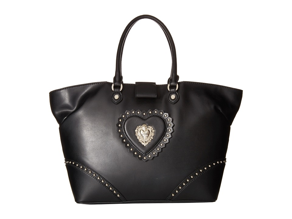 LOVE Moschino - Studded Tote Bag (Black) Tote Handbags
