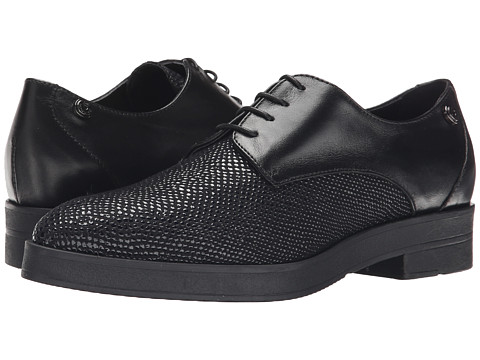 LOVE Moschino - Leather Oxford Shoe (Black) Women