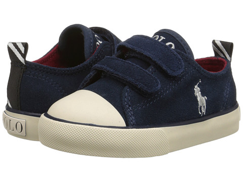 Polo Ralph Lauren Kids - Falmuth Low EZ (Toddler) (Navy Suede) Boy's Shoes