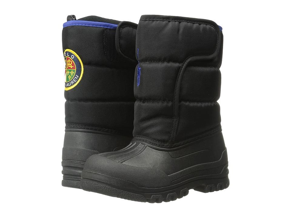 Polo Ralph Lauren Kids - Hamilten EZ (Toddler) (Black Nylon/Royal) Boys Shoes