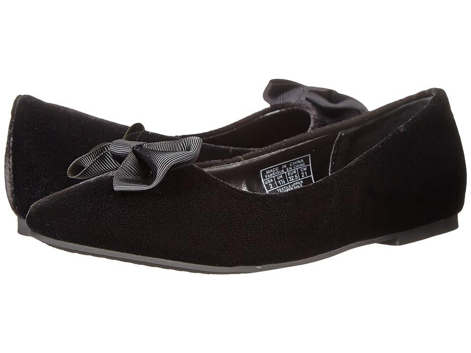 Polo Ralph Lauren Kids - Nala (Little Kid) (Black Velvet) Girl's Shoes
