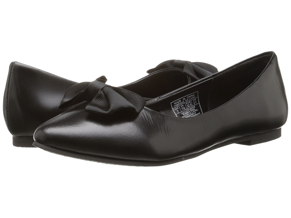 Polo Ralph Lauren Kids - Nala (Little Kid) (Black Spazzolato Leather) Girl's Shoes