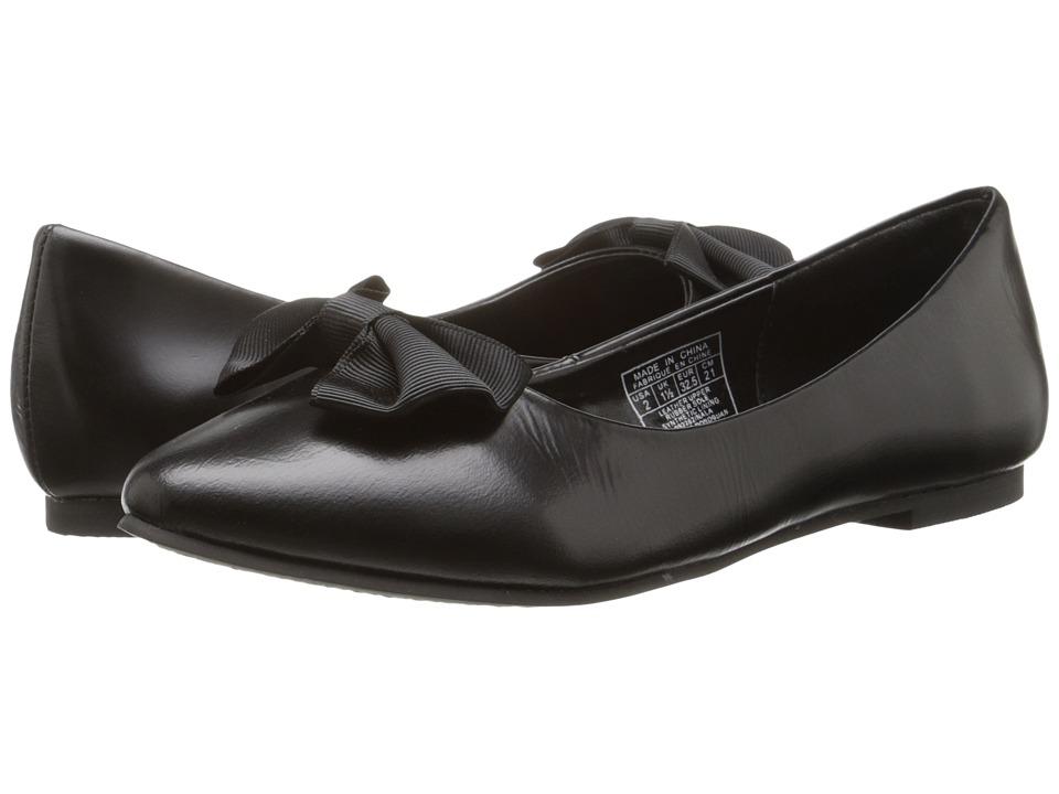 Polo Ralph Lauren Kids - Nala (Little Kid) (Black Spazzolato Leather) Girl's Shoes