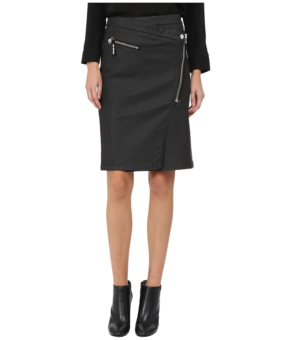 LOVE Moschino - Asymmetrical Zip Skirt (Black) Women's Skirt