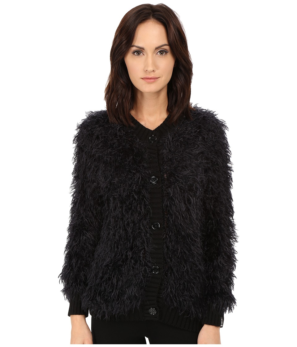 LOVE Moschino - Furry Cardigan Sweater (Black) Women's Sweater