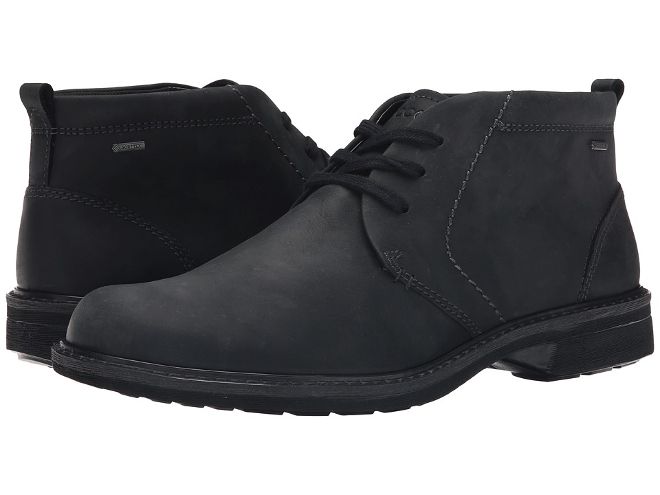 ECCO - Turn GTX Boot (Black 2) Men's Lace-up Boots