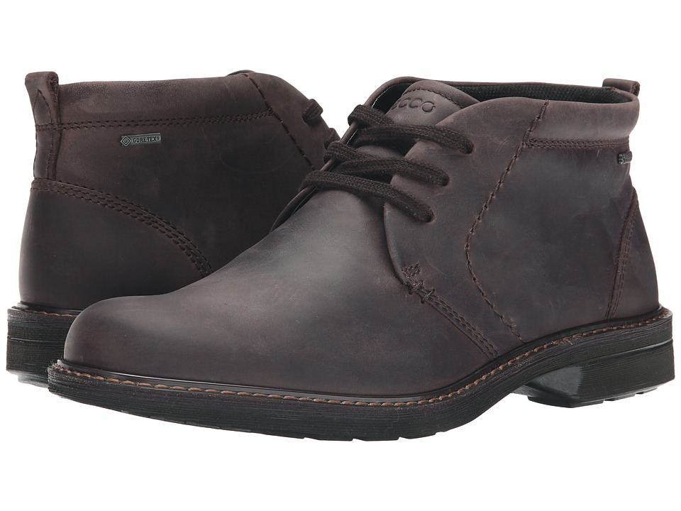 ECCO - Turn GTX Boot (Mocha) Men's Lace-up Boots