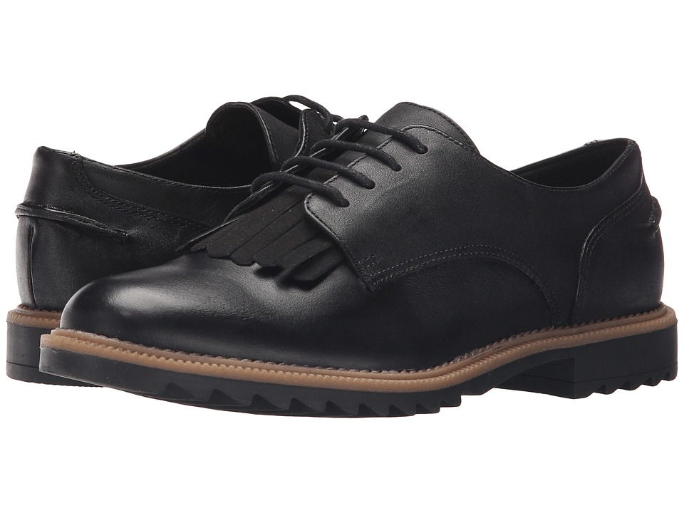 Clarks - Griffin Mabel (Black Leather) Women's Lace up casual Shoes