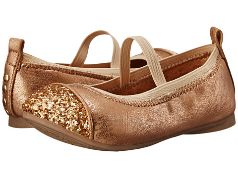 Kenneth Cole Reaction Kids - Reginia Glitter-T (Toddler/Little Kid) (Champagne Gold) Girl's Shoes