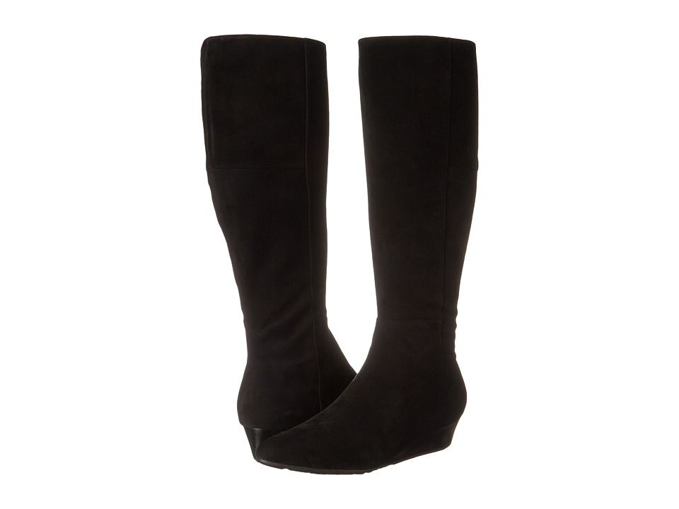 Cole Haan Tali Luxe Boot 40 Extended Calf (Black Suede) Women