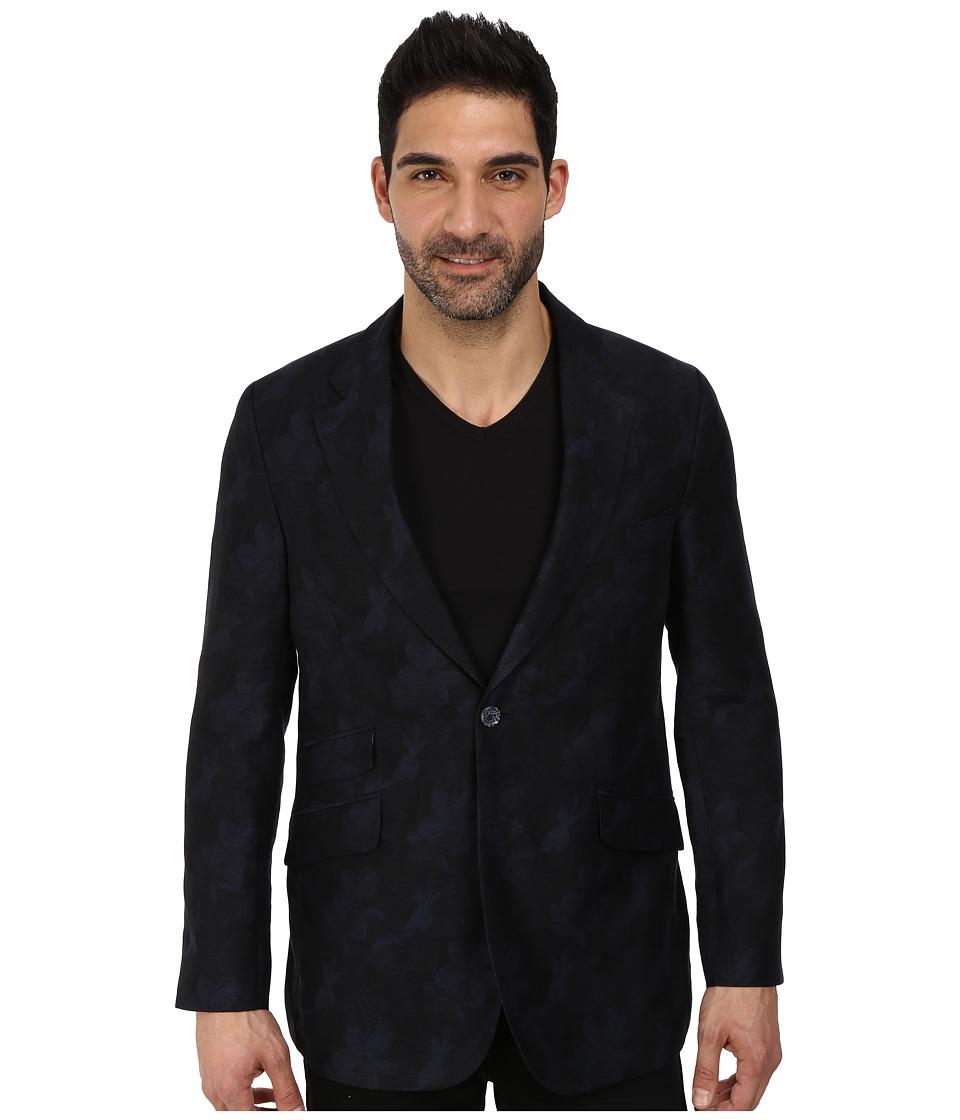 Robert Graham - San Benito Long Sleeve Sportcoat (Navy) Men