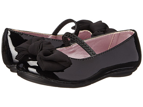 Kenneth Cole Reaction Kids - Swing It-T (Toddler/Little Kid) (Black Patent) Girl
