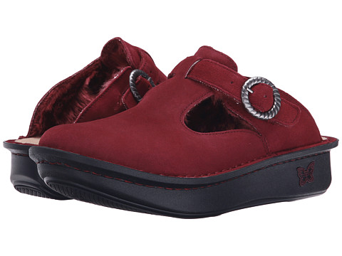 Alegria - Classic (Burgundy Shearling) Women's Clog Shoes