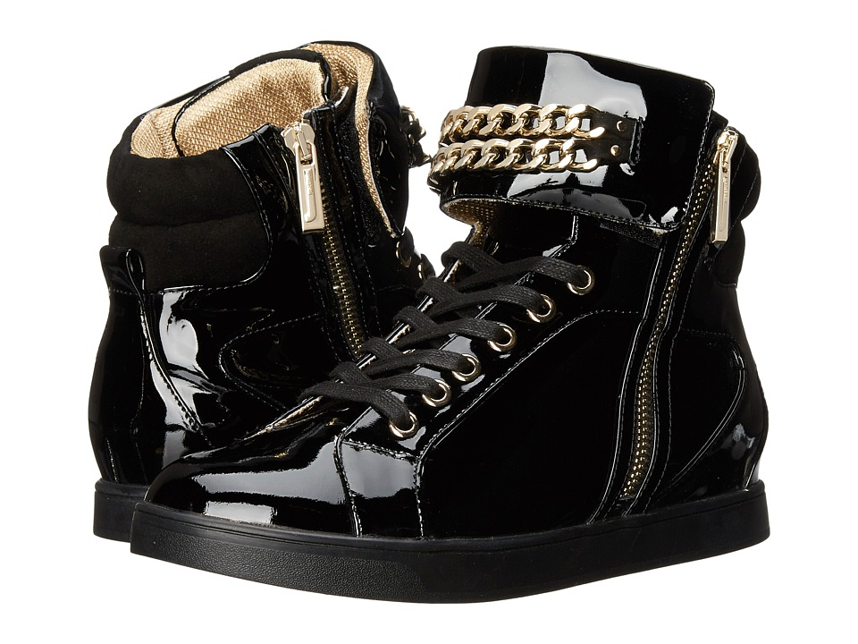 Just Cavalli - Hightop w/ Chain (Black) Women's Lace up casual Shoes