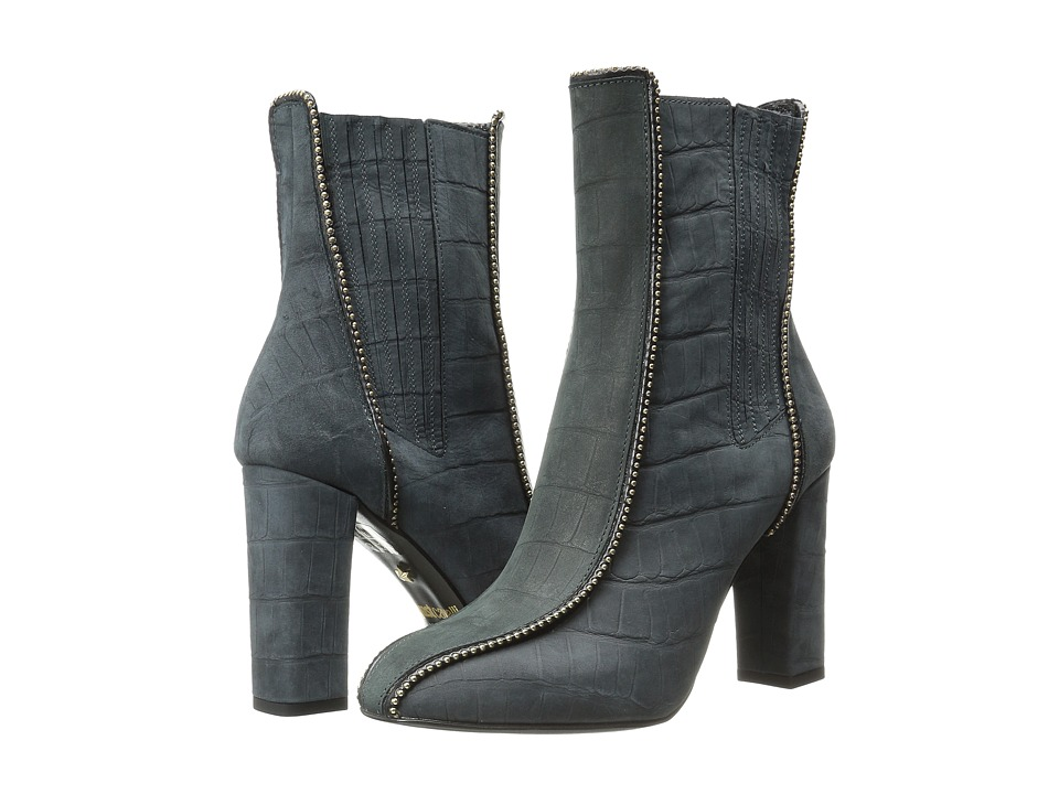Just Cavalli - High Heel Ankle Boot w/ Beaded Detail (Black) Women's Pull-on Boots