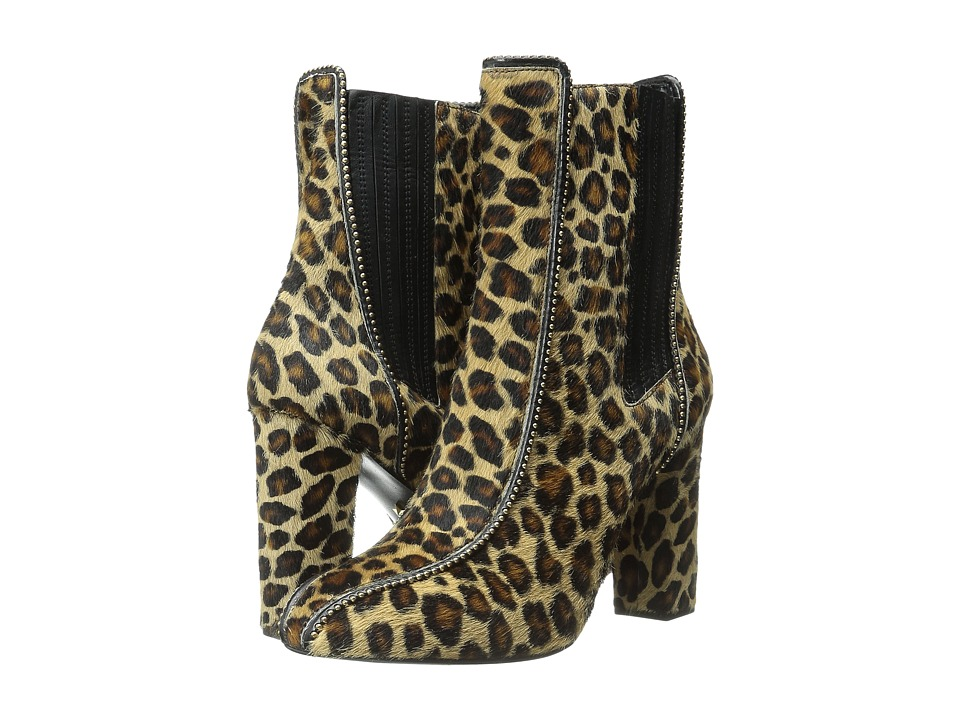 Just Cavalli High Heel Ankle Boot w/ Beaded Detail (Leather Brown) Women