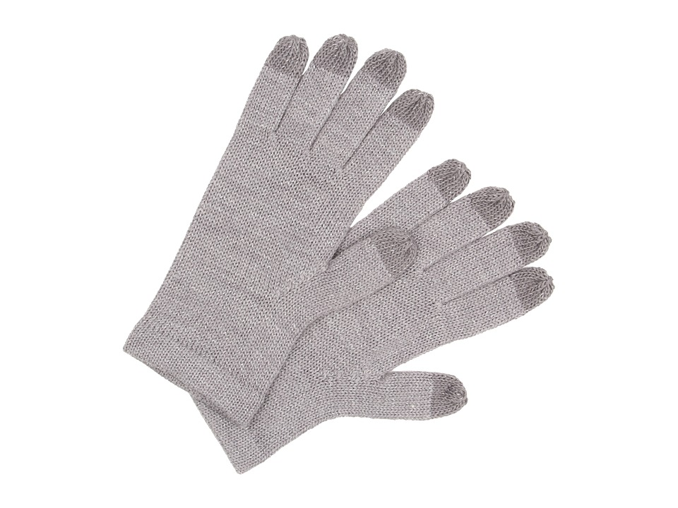 UGG - All Over Lurex Tech Glove (Grey Heather Multi) Wool Gloves