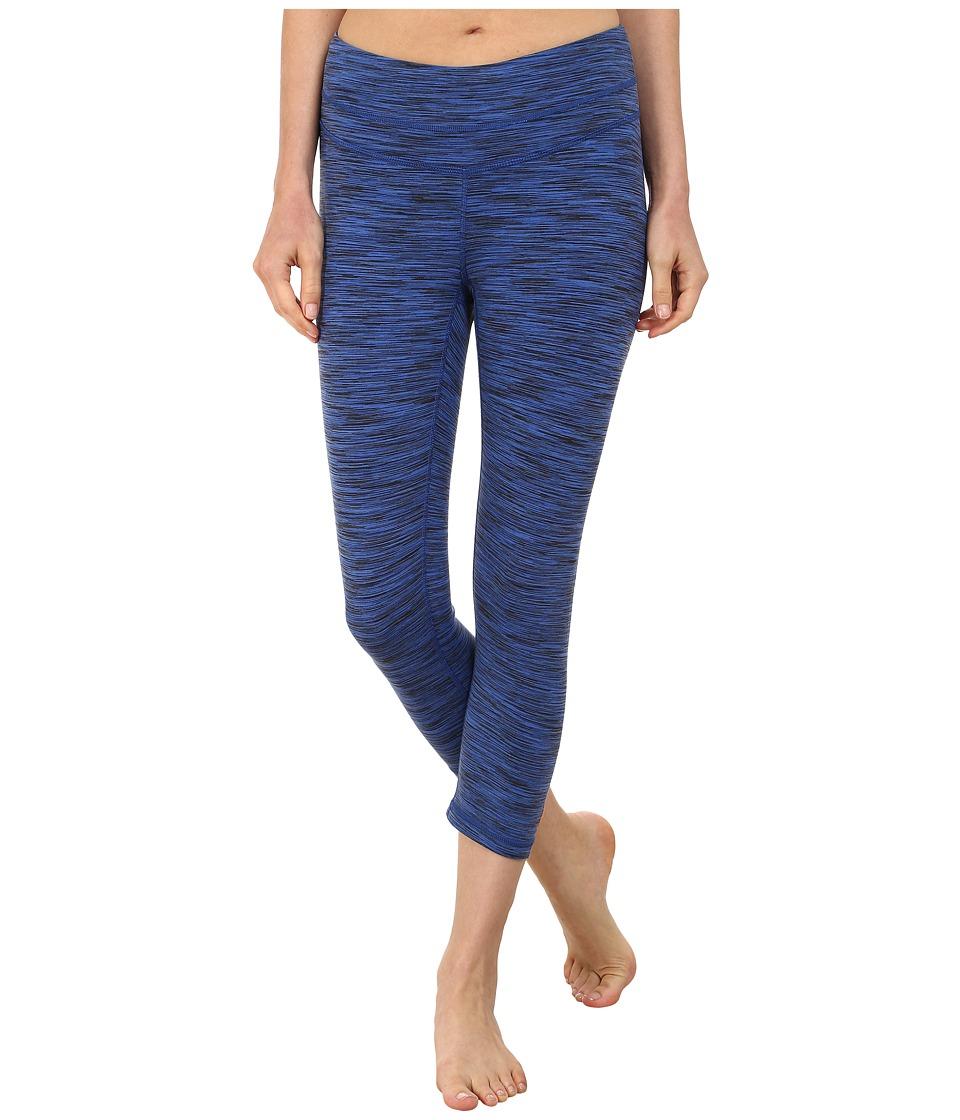 Lucy - Studio Hatha Capri Legging (Sodalite Blue Spacedye) Women's Capri