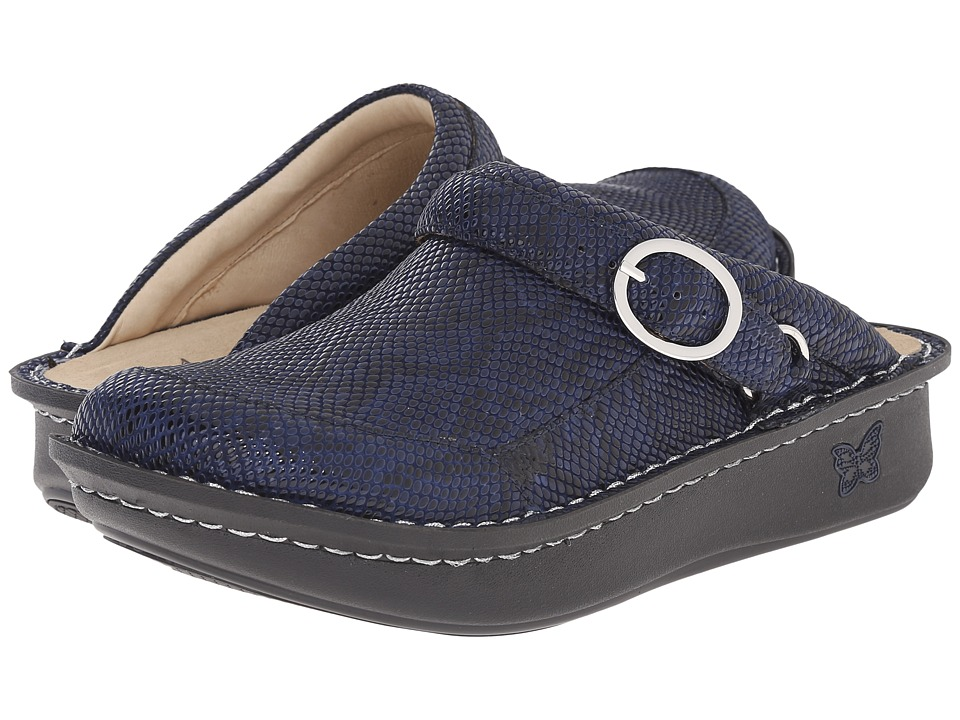 Alegria - Seville (Blue Snakey) Women's Clog Shoes