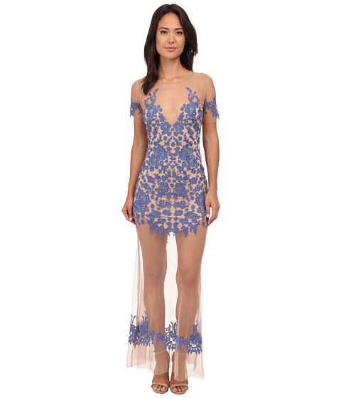 For Love and Lemons - Luau Maxi Dress (Periwinkle/Nude) Women's Dress