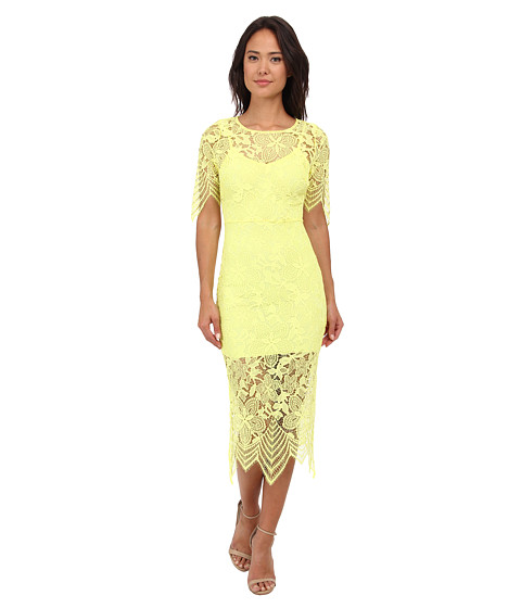 For Love and Lemons - Luna Maxi Dress (Lemon Drop) Women
