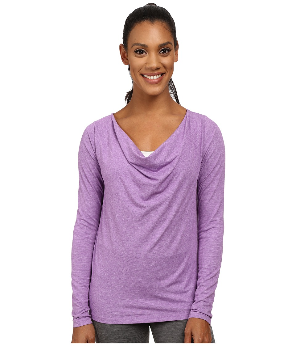 Lucy - Enlightening Long Sleeve Top (Violet Heather) Women's Long Sleeve Pullover