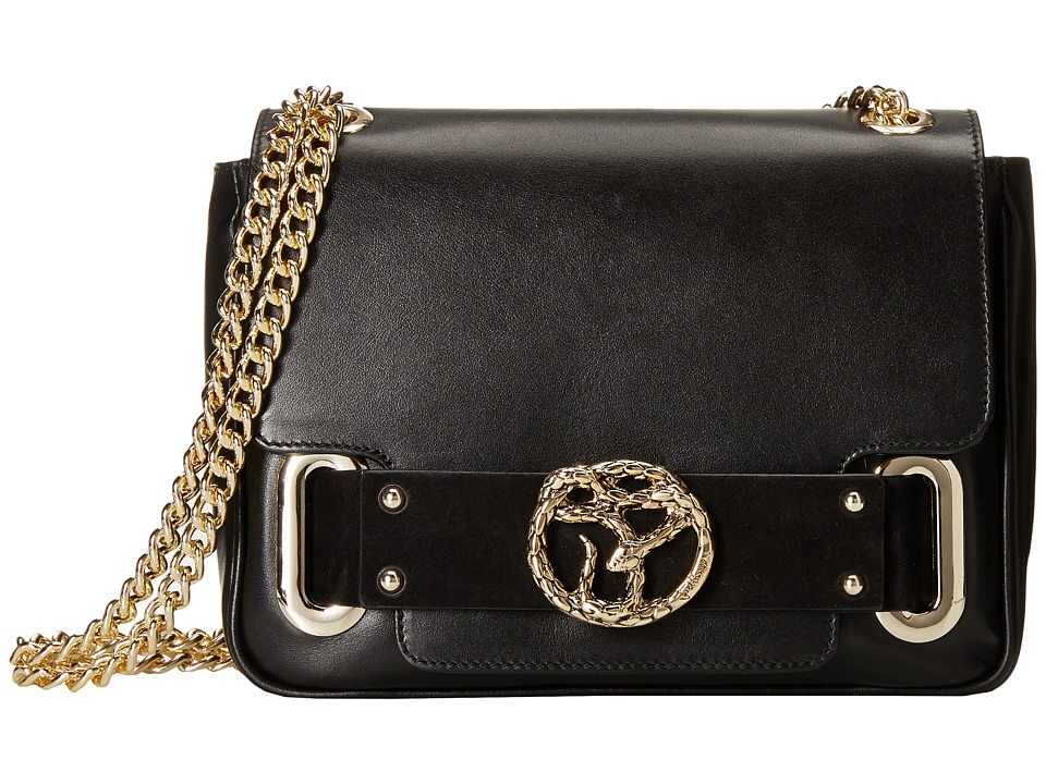 Just Cavalli - Convertible Shoulder and Crossbody w/ Snake (Black) Cross Body Handbags