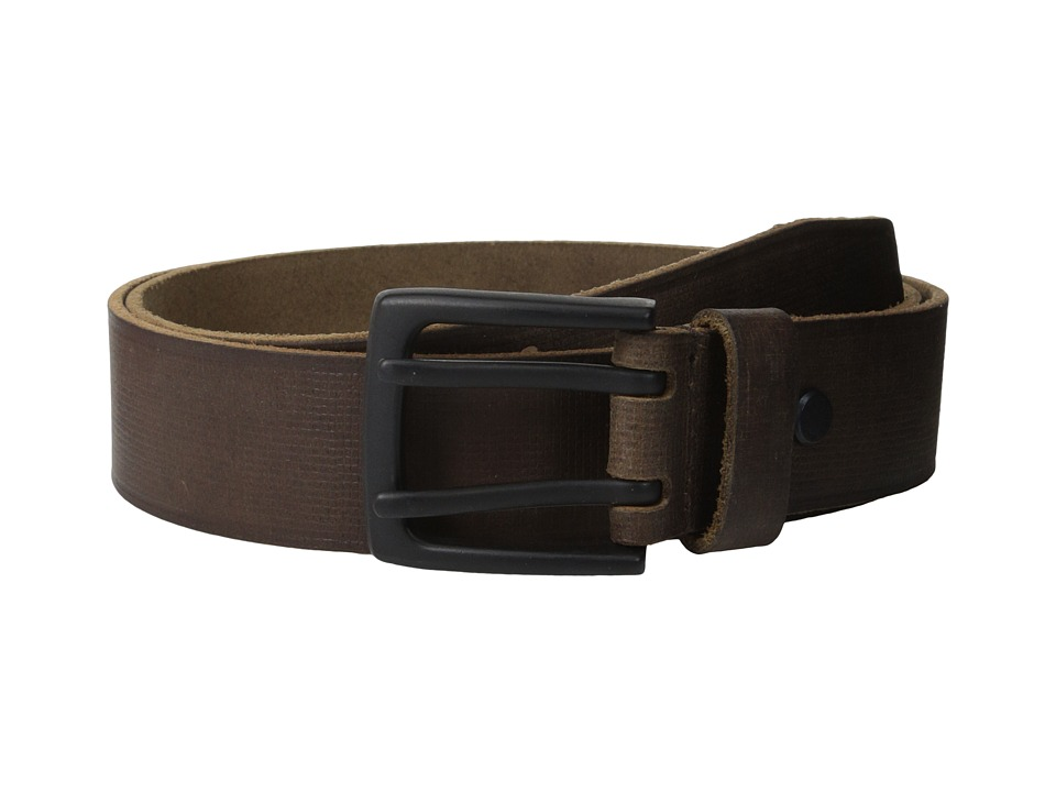 Marc New York by Andrew Marc - 38mm Gridlock Belt (Dark Brown) Men