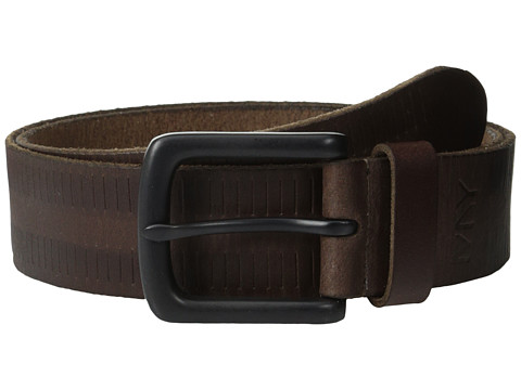 Marc New York by Andrew Marc - 38mm Carburetor Belt (Dark Brown) Men
