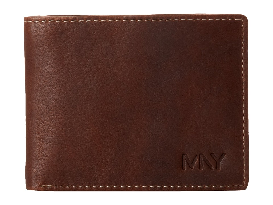 Marc New York by Andrew Marc - Rugged Wash Commuter Wallet (Brown) Wallet Handbags