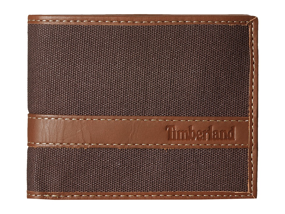 Timberland - Canvs Hunter Passcase (Dark Brown) Wallet Handbags
