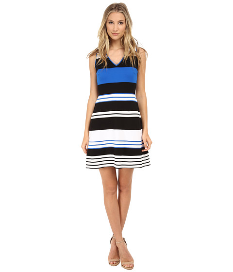 Bailey 44 - Safetynet Dress (Black/White/Cobalt) Women's Dress