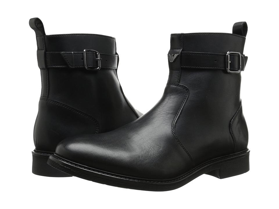 Armani Jeans - Leather Boot (Black) Men