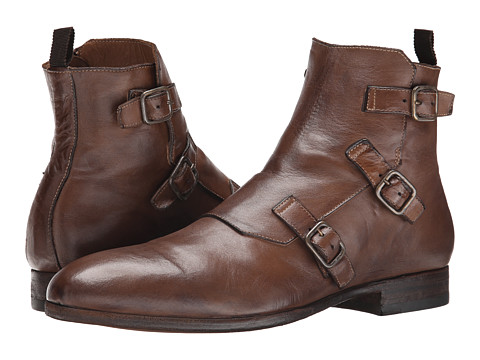 Alexander McQueen - Triple Buckle Monk Boot (Cigar) Men's Boots