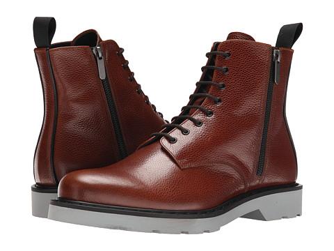 Alexander McQueen - Side Zip Boot (Ebony/Black) Men's Boots